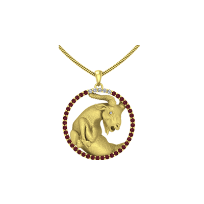 gold capricorn sign charms yellow astrology pendants pendant zodiac astrological
