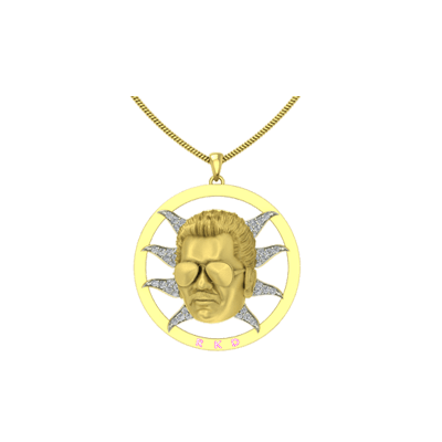 3D face stylish pendant - Gift for brother