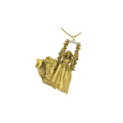 Fairy tale pendant - rakhi gift for sister