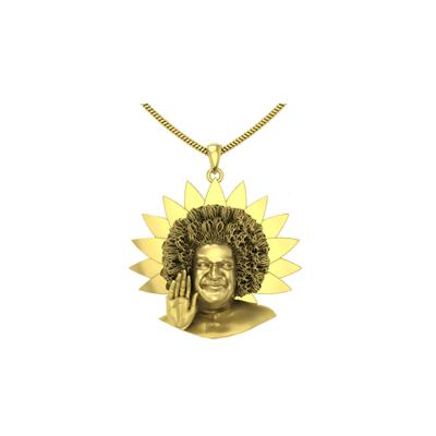 Saibaba penadant in gold - Unique housewarming gift