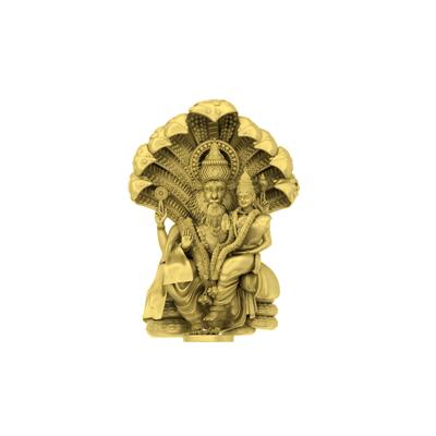 Narashima 3D God Pendant - Front