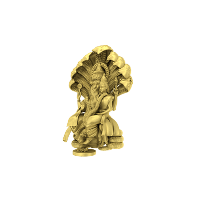 Narashima 3D God Pendant - Right