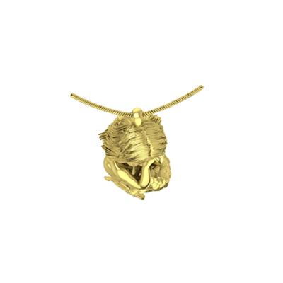 3D Face & Mermaid Pendant - Top