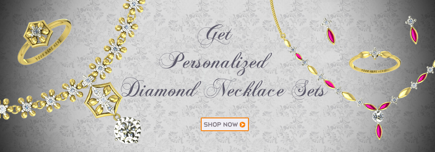 Designer diamond necklace set in gold for wedding and engagement bride