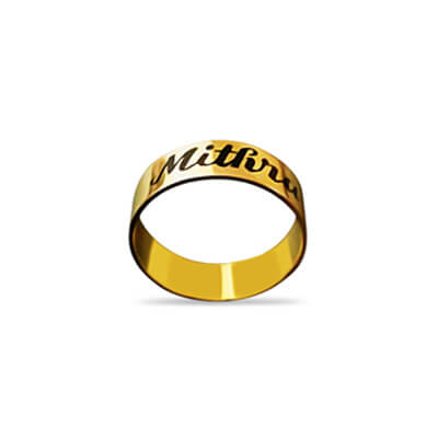 Name of your loved one is engraved on the gold ring