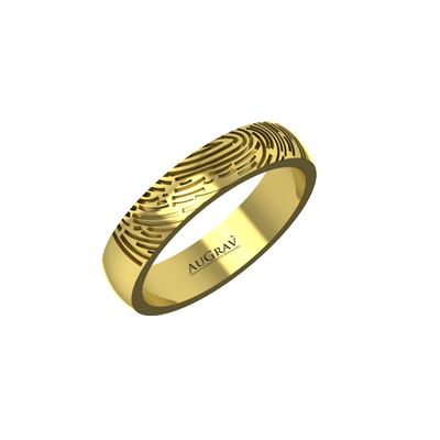 This ring is made unique by engraving fingerprint on it. Best suitable for couple those celebrate anniversary.
