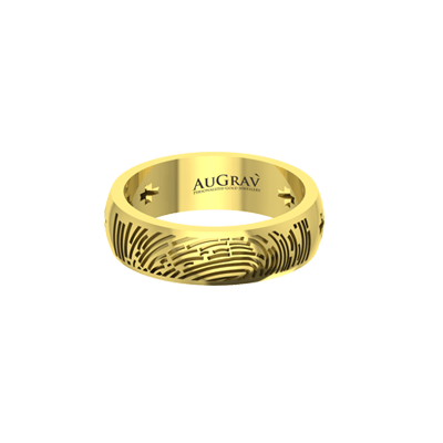 You are unique in this world. Make your anniversary band as rare by engraving fingerprint or name on it.