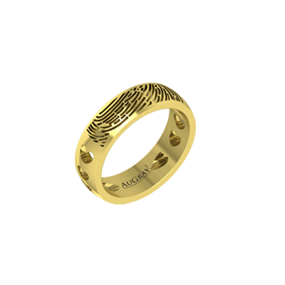 Bored with existing designs?. Customized your engagement ring with name or fingerprint.