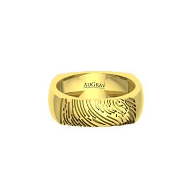 Make your engagement as unique with fingerprint engraved ring.