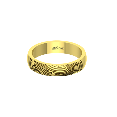 engrave anything like name or fingerprint on your anniversary rings. Available in 22k,18K.