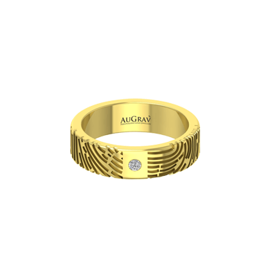 Best engraved gold ring with diamond for wedding or engagement.
