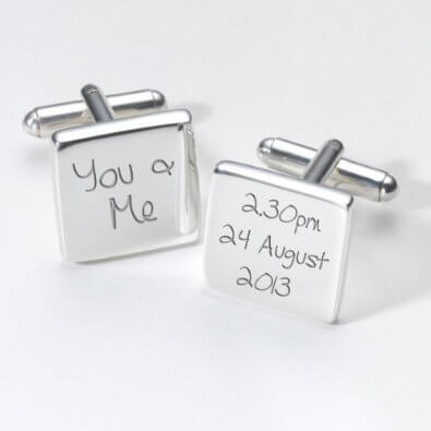 Engraved Cufflinks- Amazon