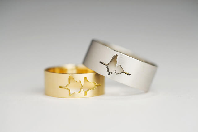I Do - Voice Waveform wedding ring