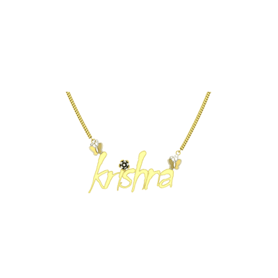 gold pendants with your childrens name. Available in white and yellow gold in india. Best personalized pendant for your baby girl and baby boy.
