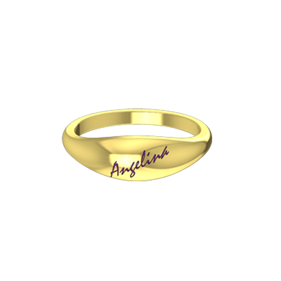 Kerala hindu wedding goldring with name in yellow gold 22K and 18k