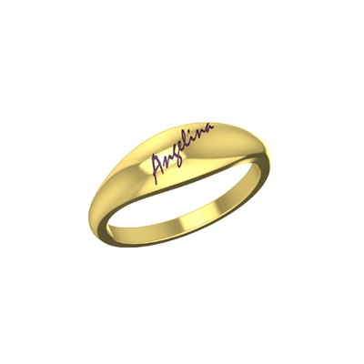 Wedding is engraved with husband and wife name on top of it. Available in 22K and 18K
