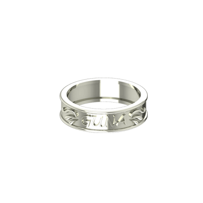 White Gold wedding ring designs with name. Latest designs in augav.com