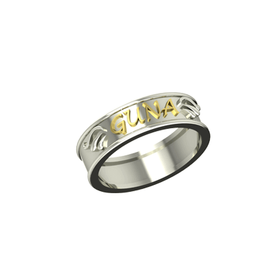 White Gold Engagement Ring For Couple With Names In Online India Available In 18k And