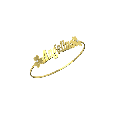 You can engrave name on bracelets for women in india online. Available in Yellow and white gold in 14K,18K and 22K