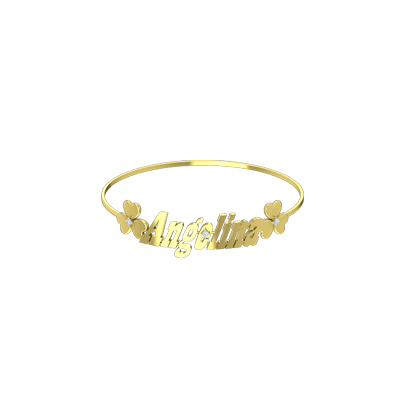Gold Diamond bracelet with name for baby girl and boy in online india. Available in 14K and 18K