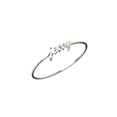 Name Bracelet is available in white gold for men and women with name. Hassle free shopping in online