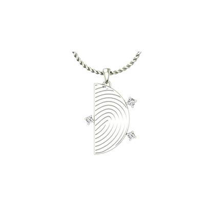 Half moon fingerprint pendant mozeypictures Image collections