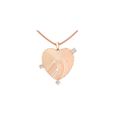 Heart shaped gold and diamond pendant for her. Best designs at augrav.com at best price