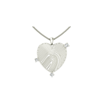 Heart shaped gold pendant for men and women in india with diamond. Available in white and yellow gold.