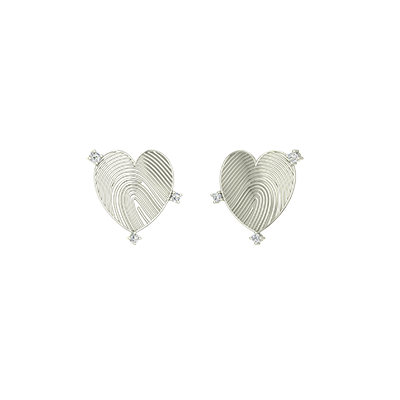 Heart shaped diamond earring for women in white and yellow gold. Available in 18K and 22K at its best price