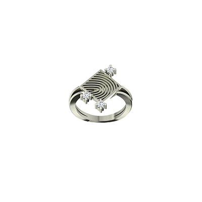 Finger gold ring with fingerprint engraved. Best finger ring for engagement and wedding in 22k and 18K