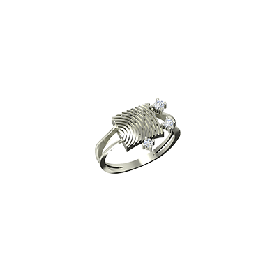 Customized gold ring for men in india with fingerprint on top of it. available in white gold 22K and 18K.
