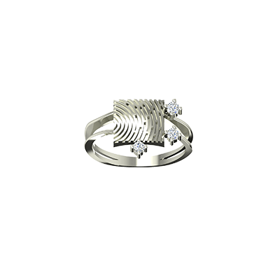 fingerprint rings white gold in 18k and 22k. Best unique ring for wedding and engagement.