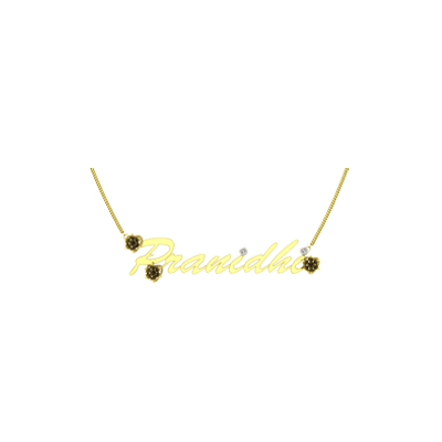 Pendant With Names of person on it. Customize with kids or mens name in gold and diamond pendant
