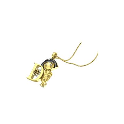 Dora Cartoon Custom Gold Pendant. Best gold pendant for cartoon loving men and women