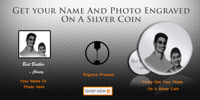 Photo engraved silver coins online india - Augrav