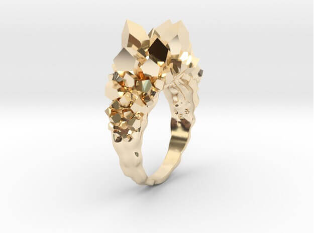 3D Jewellery - Crystal Ring for Wedding