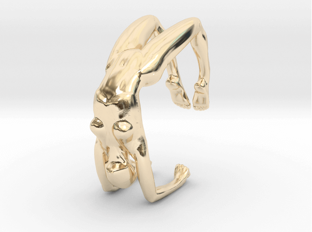 3D-Printed-Gold-Lady-Bracelet
