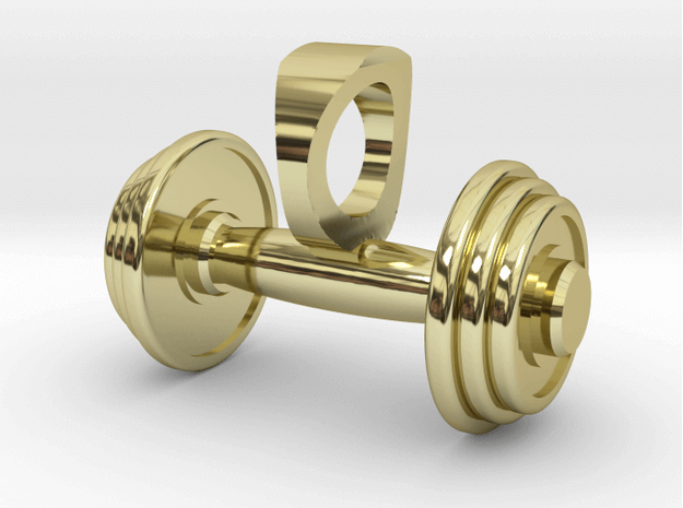Custom Dumbbell 3D pendant