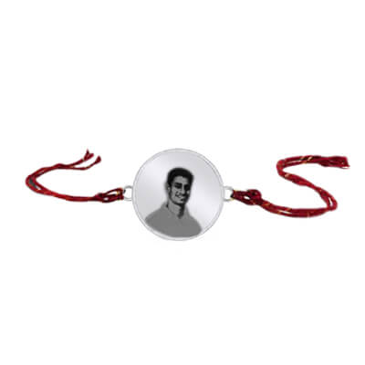 Engrave your brother/bhaiya photo on a silver rakhi. Custom photo rakhi is available in online. Latest designs for 2015 raksha bandan.