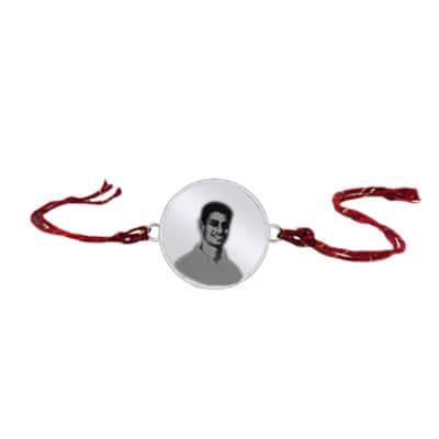 Engrave your brother/bhaiya photo on a silver rakhi. Custom photo rakhi is available in online. Latest designs for 2015 raksha bandan.