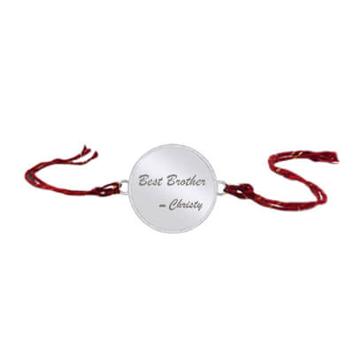 Best customized silver rakhi for bhaiya/dada on rakshabandan. latest designs at its best price in online india