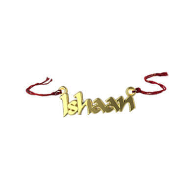 Best rakshabandan gift for sister in gold with her name. can be used as return gifts