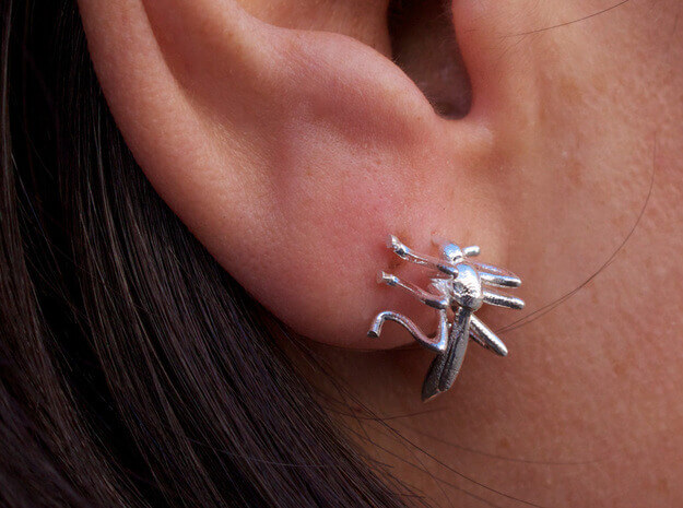 Mosquito earrings-3D Printed Custom jewellery