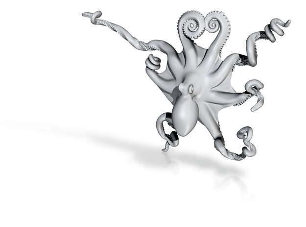 Octopus 3D Printed Pendant