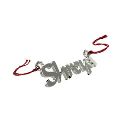 Silver Name rakhi is delivered in India. Pure silver rakhi bracelet for your brother