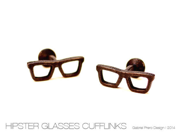 Unique Hipster glasses cufflinks