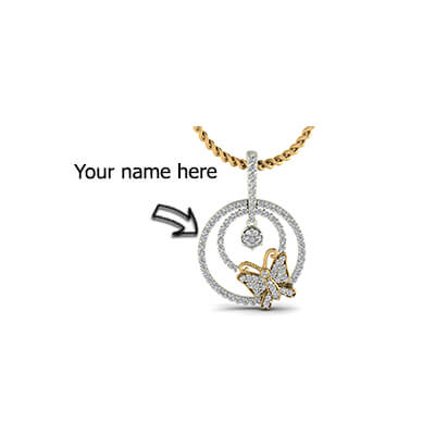 Custom Engraved gold pendants with pure diamonds for men and women in online india at augrav.com