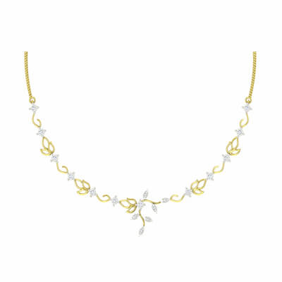gold necklace for women 22k with diamond in india for wedding in online at augrav.com