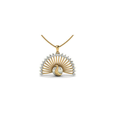 Latest diamond pendant designs for women in yellow and white gold. Free shipping across india