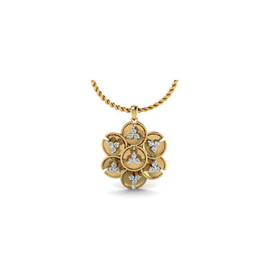 Modern Diamond pendant designs in yellow gold 18K ans 22K. Free shipping in chennai,mumbai,delhi and kolkata